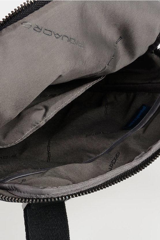 LINE Leather Strap Crossbody bag Black