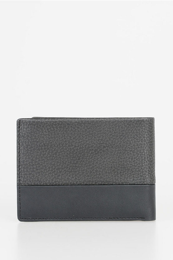 LINE Leather Wallet Black