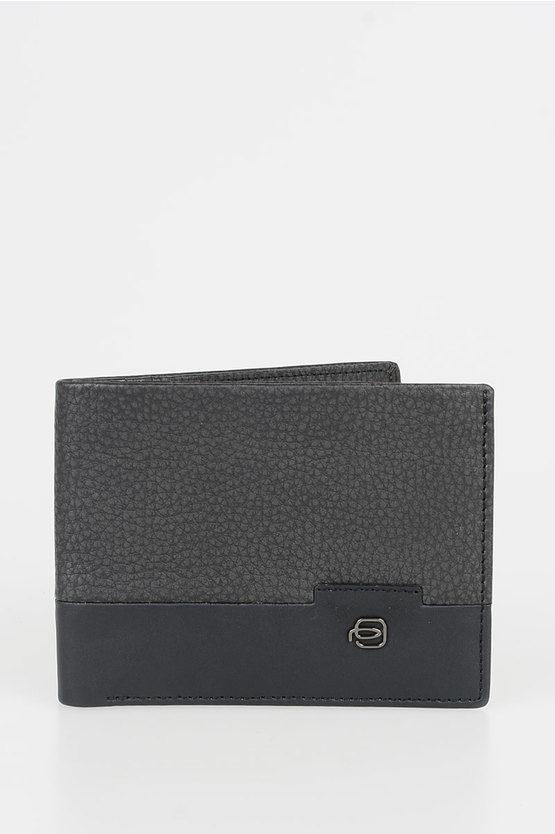 LINE Leather Wallet Black