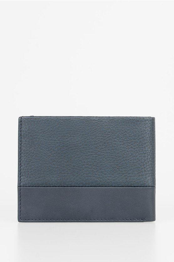 LINE Leather Wallet Blue