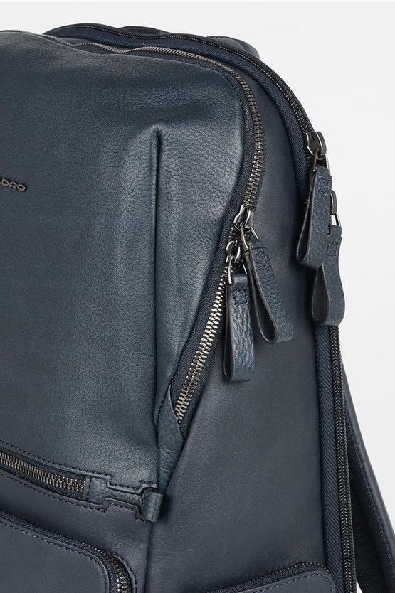 LINE Zaino fast-check Grande in Pelle Blu