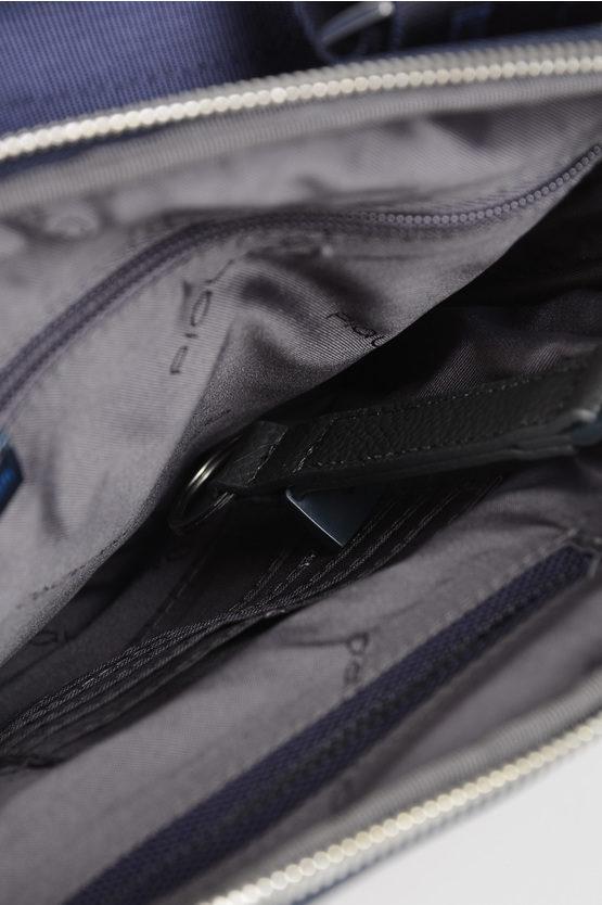 LINK Borsello Organizzato a Tracolla Blu