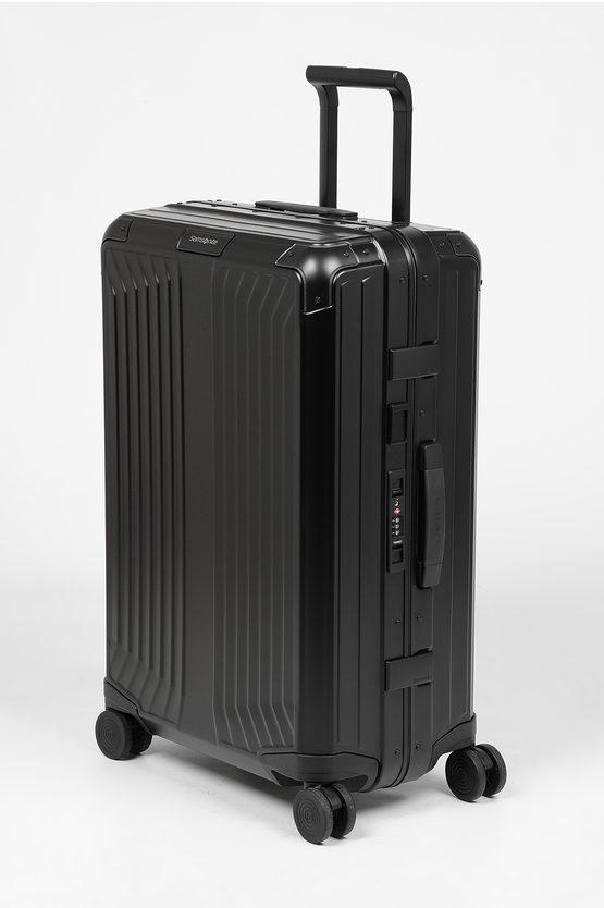 LITE-BOX ALU Trolley Medio 69cm 4R Nero