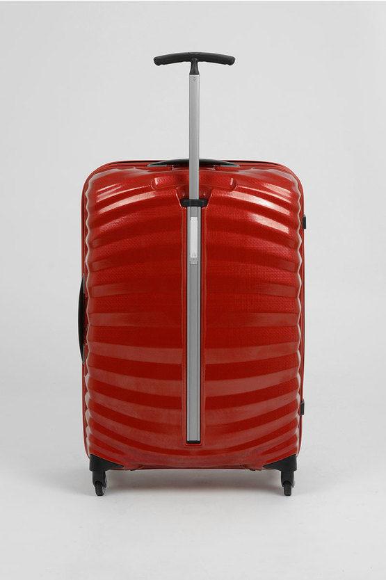 LITE-SHOCK Trolley Medio Rigido 69cm 4R Spinner Rosso