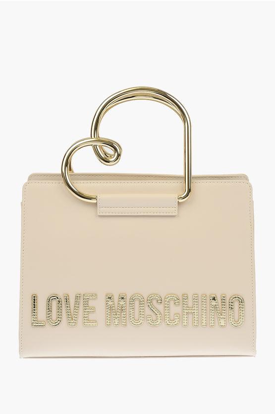 LOVE Borsa a Mano HEART HANDLE in Ecopelle