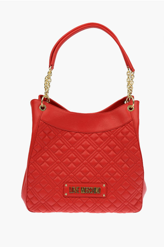 LOVE Borsa a Mano NEW SHINY QUILTED in Ecopelle