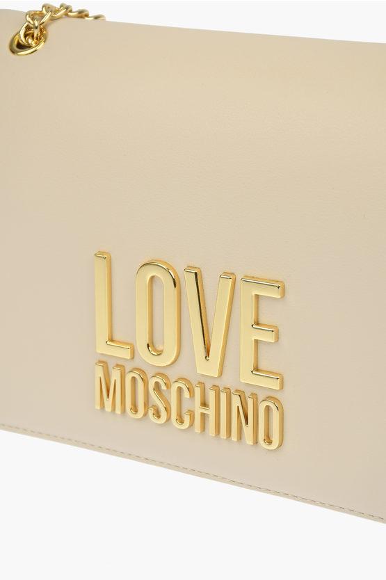 LOVE Borsa a Spalla GOLD  METAL LOGO in Ecopelle