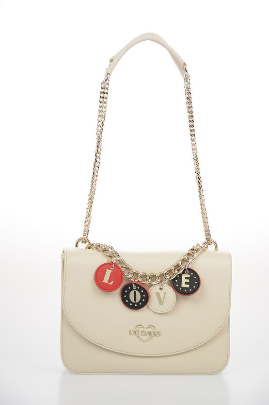 LOVE borsa a Spalla LOVELY CHARMS in Ecopelle