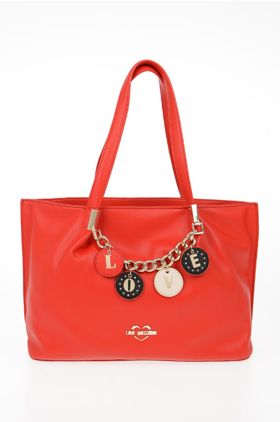 LOVE Borsa Tote LOVELY CHARMS in Ecopelle