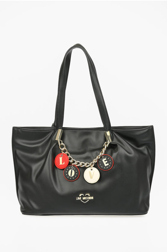 LOVE Borsa Tote LOVELY CHARMS in Ecopello