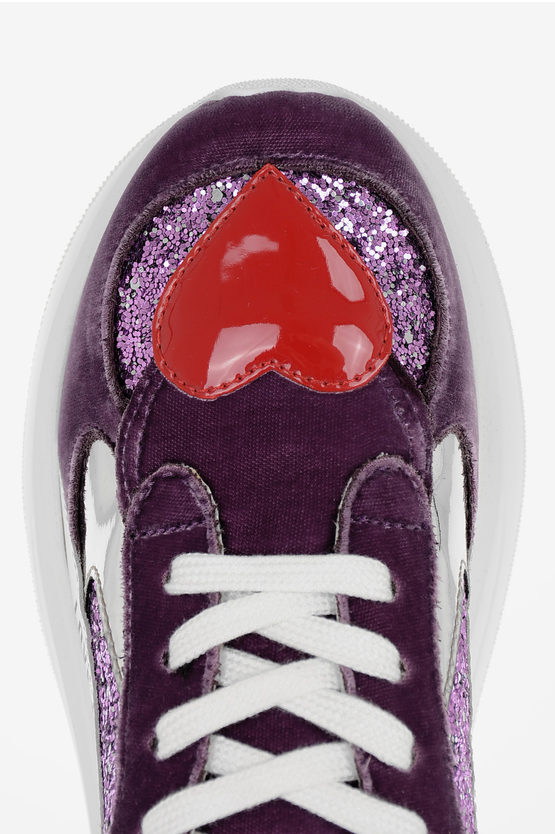 LOVE Chenille Glittered Sneakers