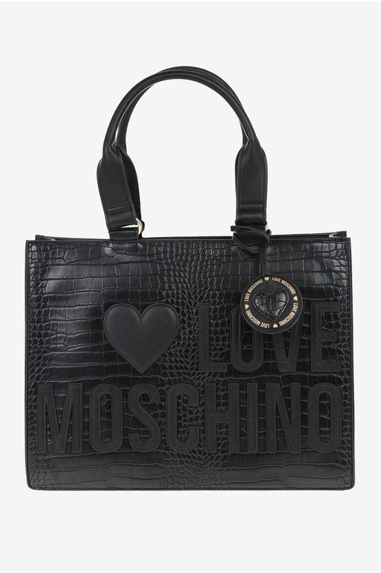 LOVE Crocodile Printed Bag