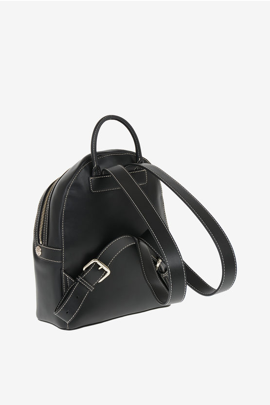 LOVE Faux Leather Embroidered Backpack