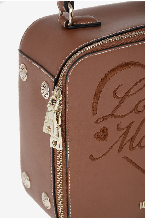 LOVE Faux Leather Embroidered Hand Bag