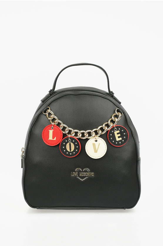 LOVE Faux Leather LOVELY CHARMS Backpack
