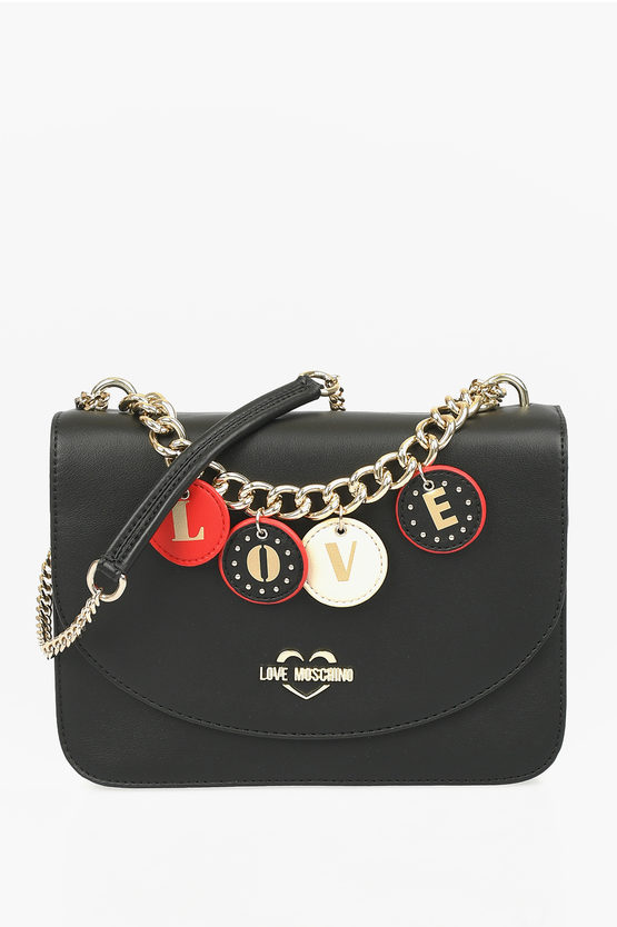 LOVE Faux Leather LOVELY CHARMS Shoulder Bag