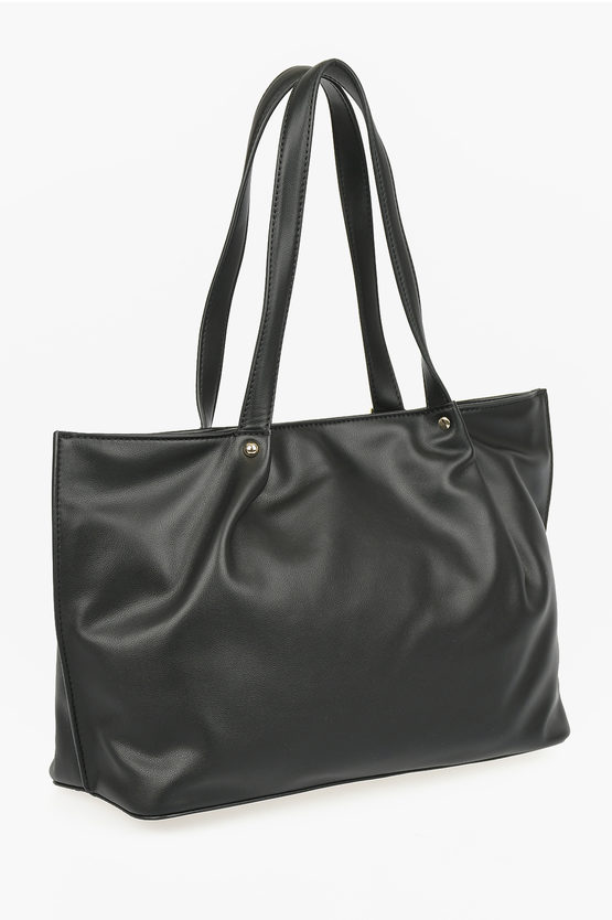 LOVE Faux Leather LOVELY CHARMS Tote Bag