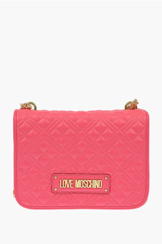 LOVE Faux Leather NEW SHINY QUILTED Bag