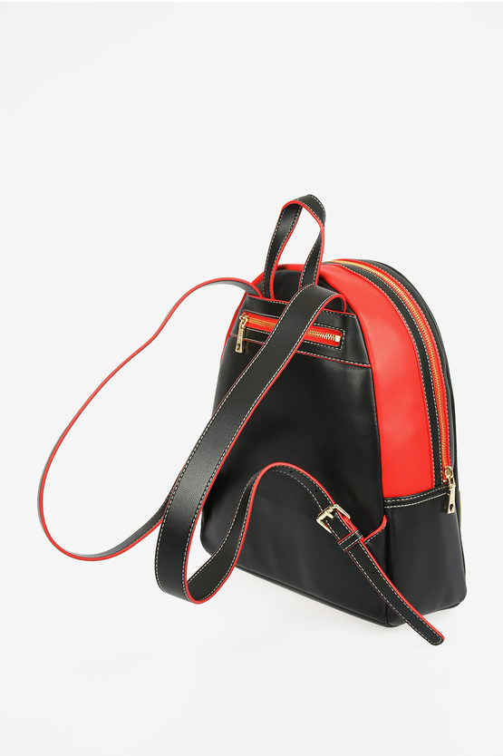 LOVE Faux Leather OUT OF THE BLUE Backpack With Glittered Heart
