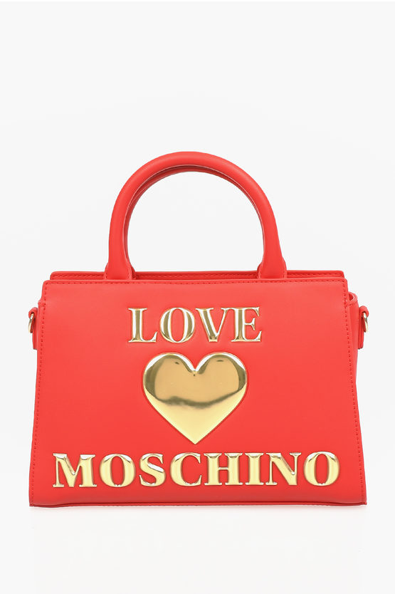 LOVE Faux Leather PADDED SHINY HEART Bag