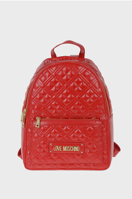 LOVE Faux Leather Quilted Backpack