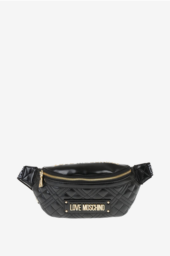 LOVE Faux Leather Quilted Fanny Pack