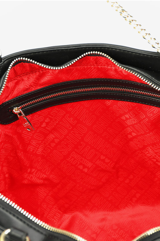 LOVE Faux Leather Quilted JEWEL Tote Bag