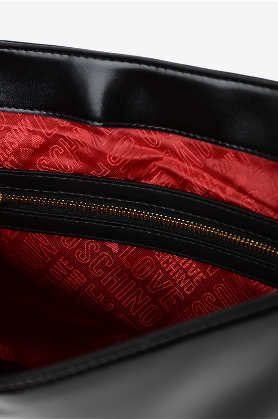 LOVE Faux Leather Quilted Tote Bag