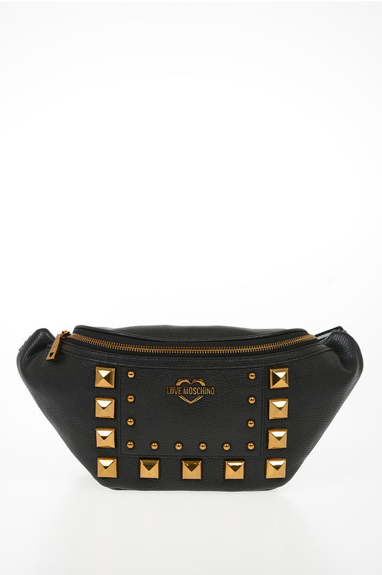 LOVE Faux Leather Studded SQUARE Fanny Pack
