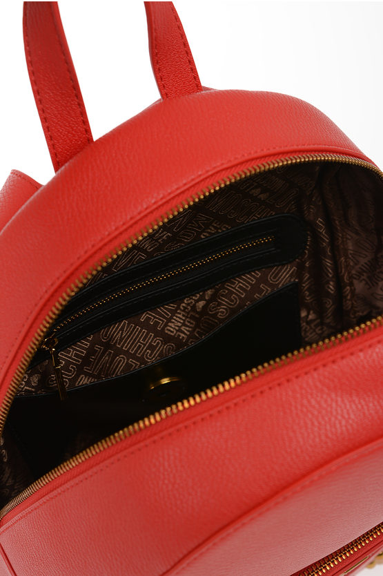 LOVE Faux leather Studded SQUARE STUDIOS Backpeck