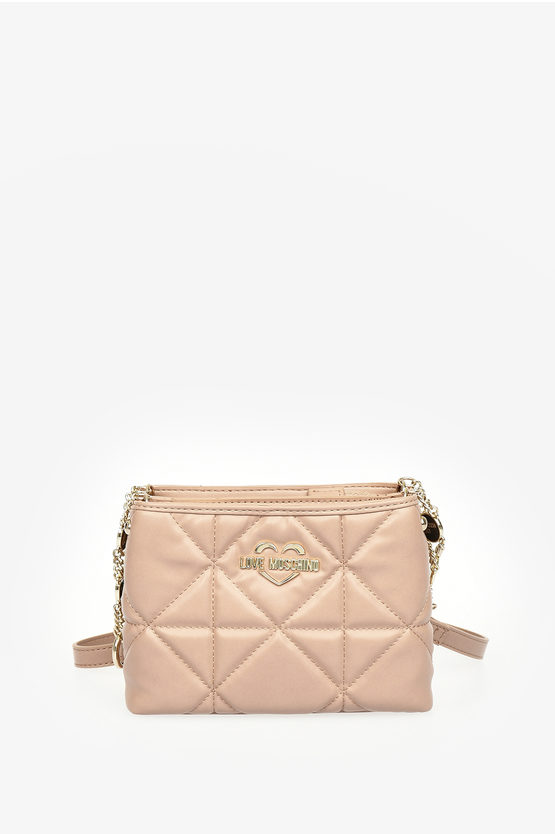 LOVE Faux Quilted Leather JEWEL Bag