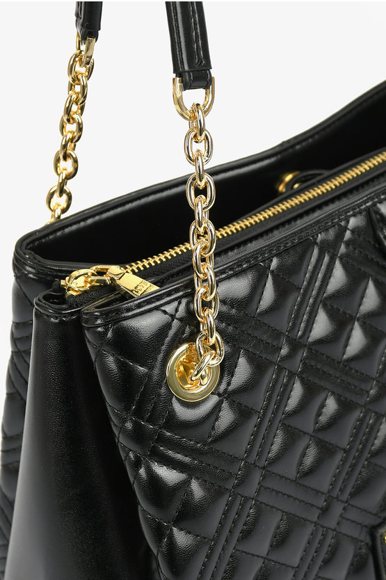 LOVE Faux Quilted Leather NEW SHINY Hand Bag