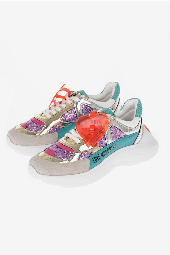 LOVE Glittered Low Sneakers