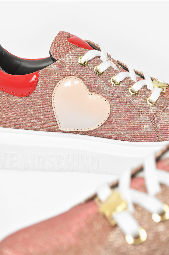 LOVE Glittered RUNNING Sneakers