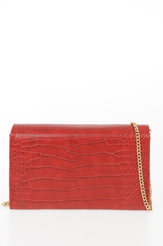 LOVE Leather Crocodile Printed EVENING Bag
