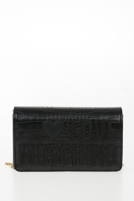 LOVE Leather Crocodile Printed EVENING Bag