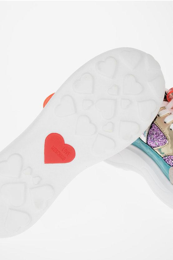 LOVE Sneakers Basse Glitterate