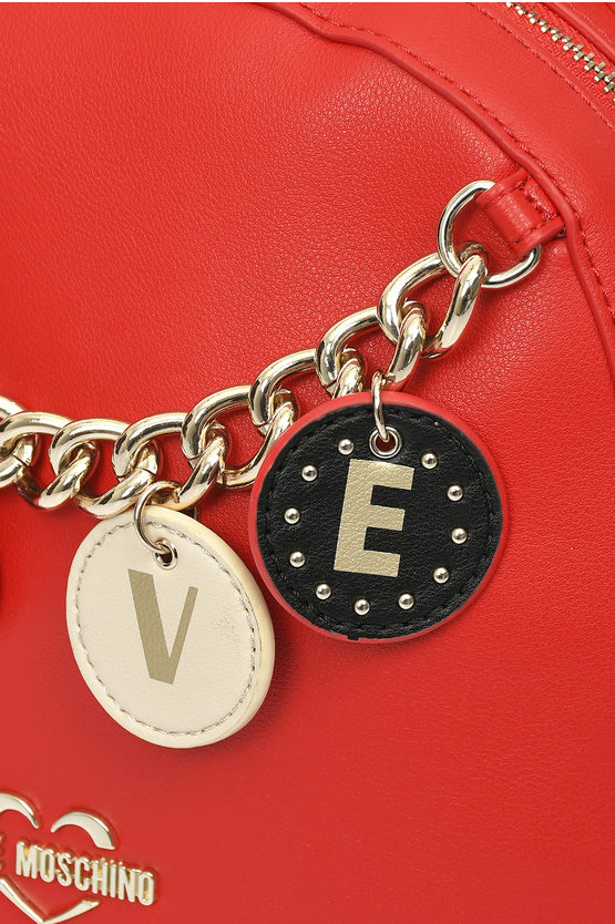 LOVE Zaino LOVELY CHARMS In Ecopelle