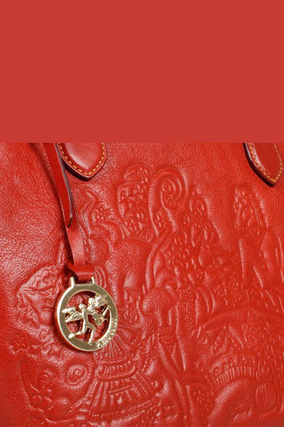 MAGIC CIRCUS Borsa a Mano Rosso/Caramello