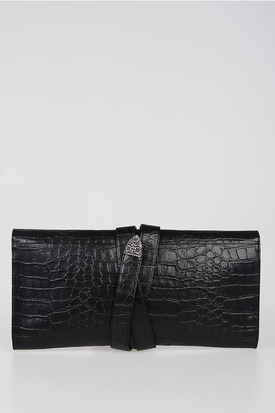 MM6 Printed Faux Leather Maxi Clutch