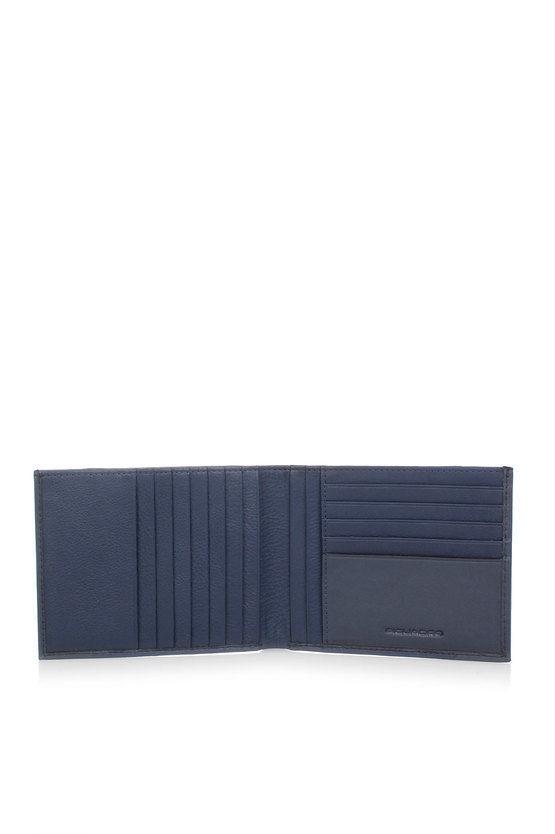 PULSE Portafoglio con 12 scomparti porta Carte di Credito Blu