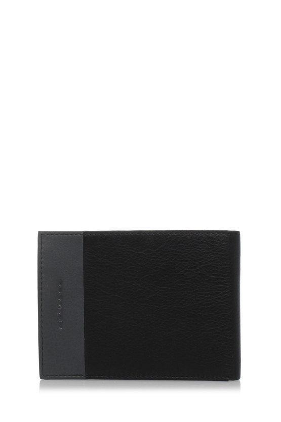 PULSE Portafoglio con Portamonete, Documenti e Carte di Credito Nero
