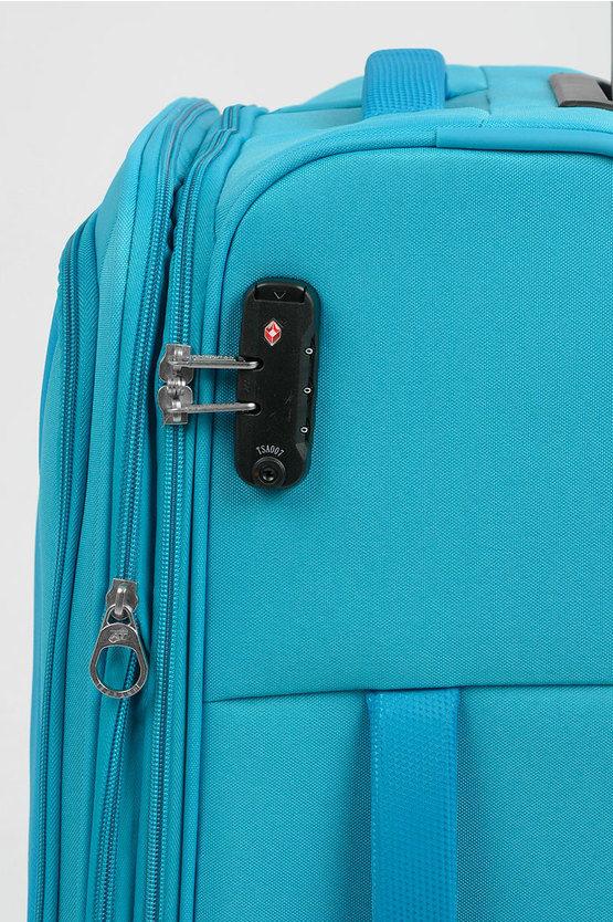 RALLY Trolley Medio 68cm 4R Espandibile Azzurro