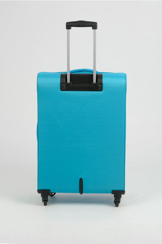 RALLY Trolley Medio Spinner 4R Exp 68cm Azzurro