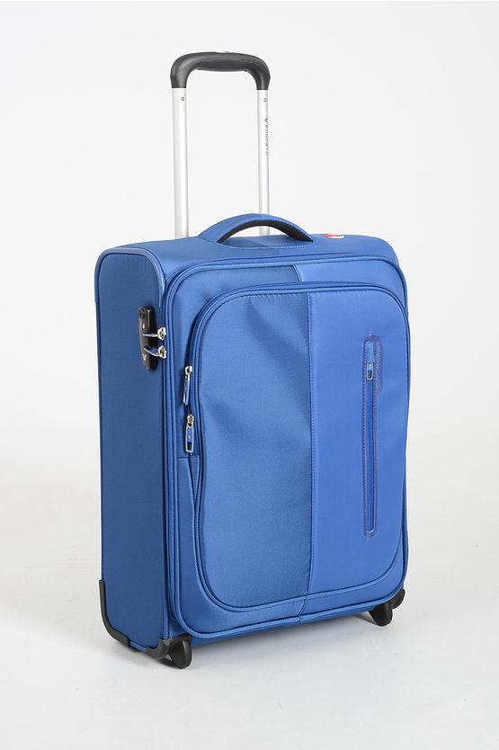 ROMA Trolley Cabina 55cm 4R Blu