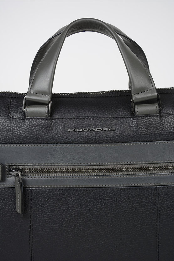 SCOTT Leather Briefcase Black