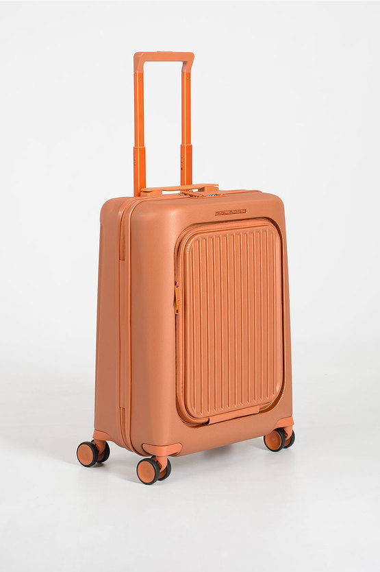 SEEKER Trolley Cabina 55cm 4R porta PC iPad®Air/ Pro 10.5 Arancio