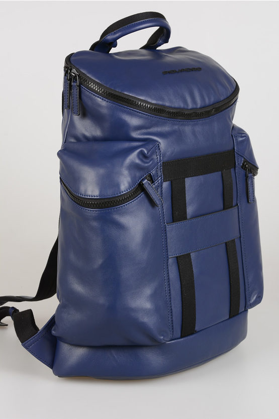 SETEBOS Zaino in Pelle Blu