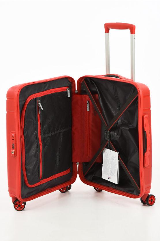 SKYTRACER Cabin Trolley 55cm 4W Formula Red