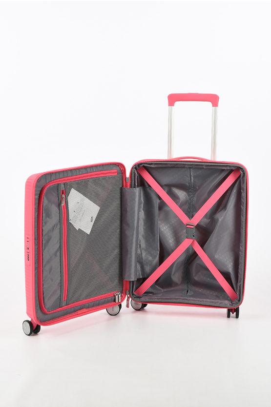 SOUNDBOX Cabin Trolley 55cm 4R Expandable Hot Pink